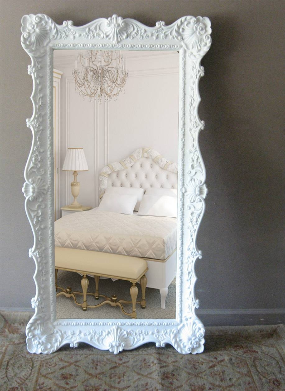Shabby Chic Floor Mirror 26 Fascinating Ideas On Zoom – Harpsounds.co in Shabby Chic Large Mirrors (Image 14 of 25)