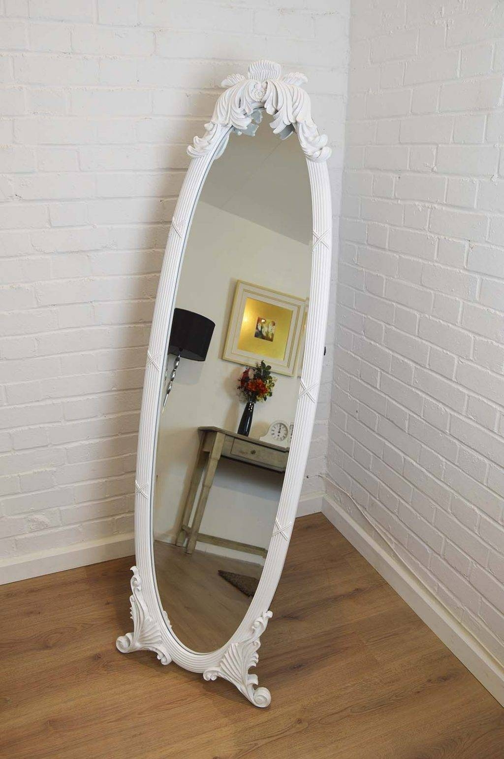 Shabby Chic Floor Standing Mirror – Harpsounds.co within Shabby Chic Floor Mirrors (Image 21 of 25)