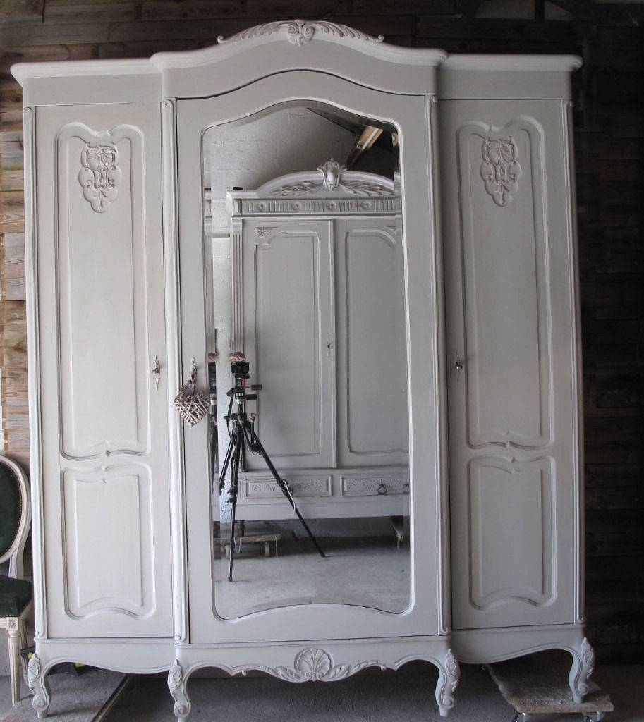 Shabby Chic French Antique Wardrobe London | In Mitcham, London in White Antique Wardrobes (Image 13 of 15)
