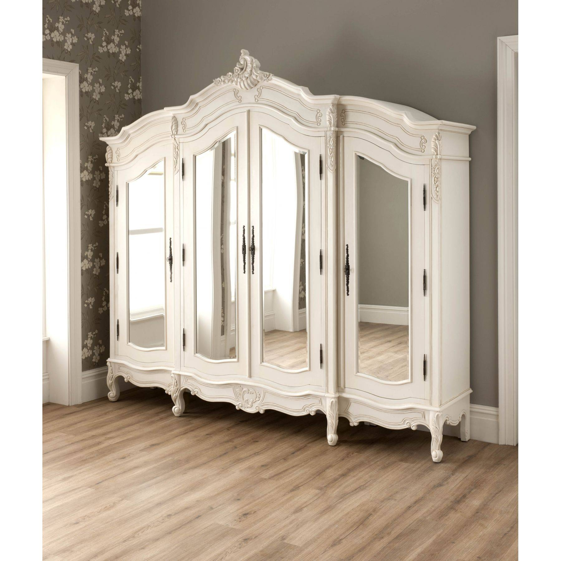 Shabby Chic Furniture Uk | French Furniture & Mirrored |Homesdirect365 within Cheap French Style Wardrobes (Image 14 of 15)