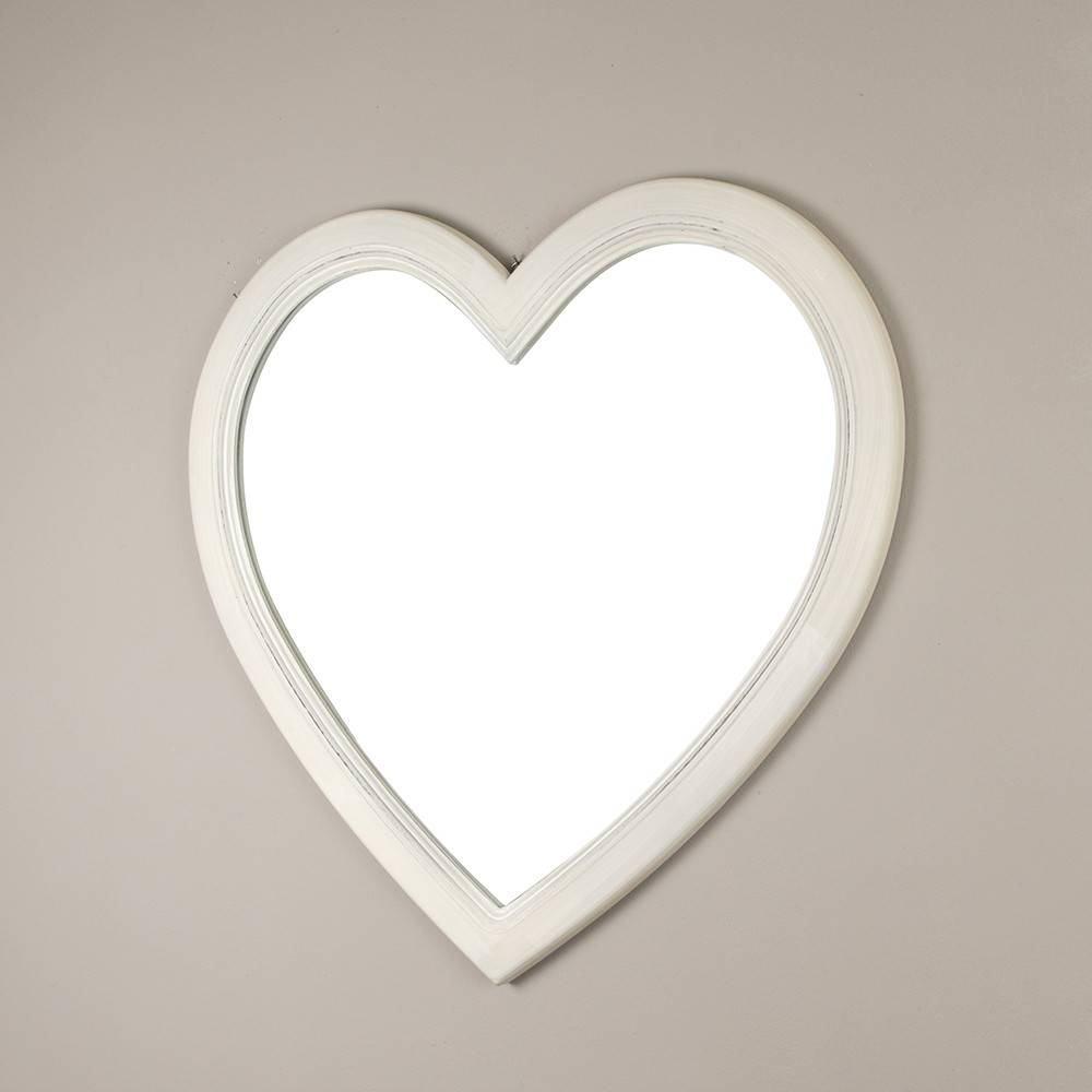Shabby Chic Heart Shaped Wall Mirror in Heart Shaped Mirrors for Wall (Image 18 of 25)