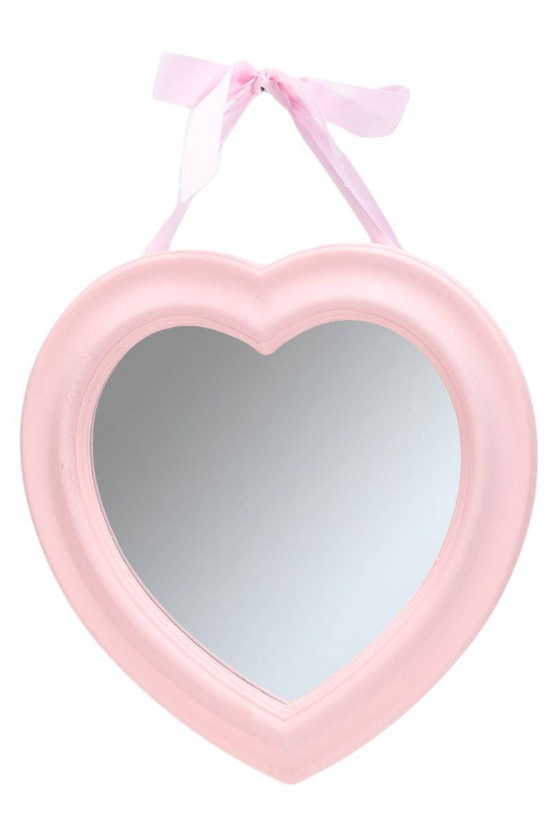Shabby Chic Heart Shaped Wooden Wall Mirror Vintage Style Framed pertaining to Heart Wall Mirrors (Image 21 of 25)