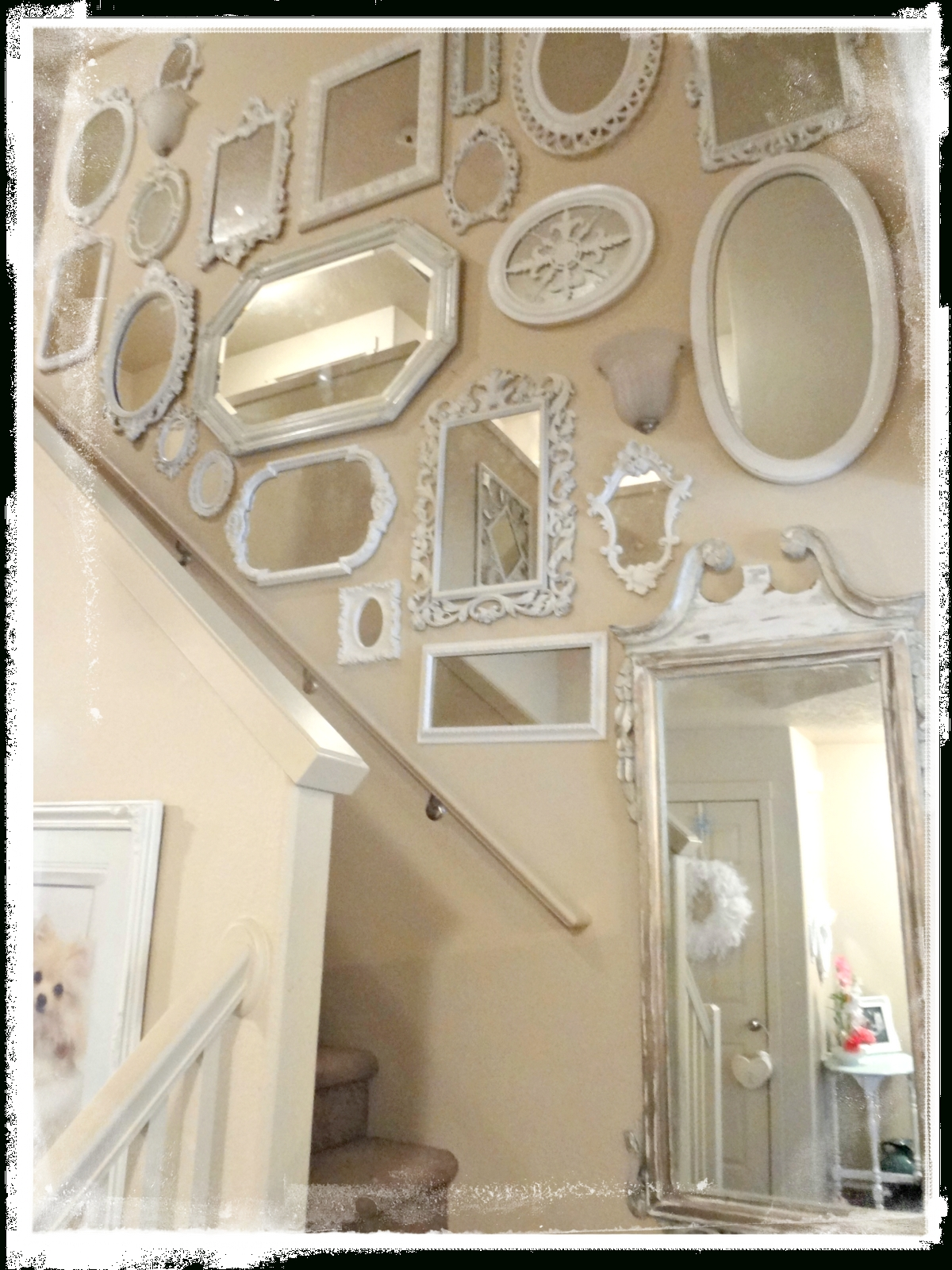 Shabby Chic Mirror ~ Holst throughout Vintage Shabby Chic Mirrors (Image 17 of 25)