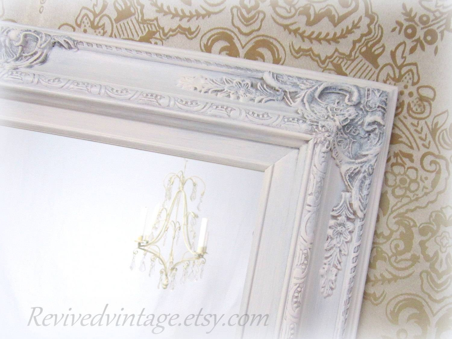 Shabby Chic Mirrors For Sale Baroque Framed Mirror Throughout Baroque White Mirrors (View 20 of 25)