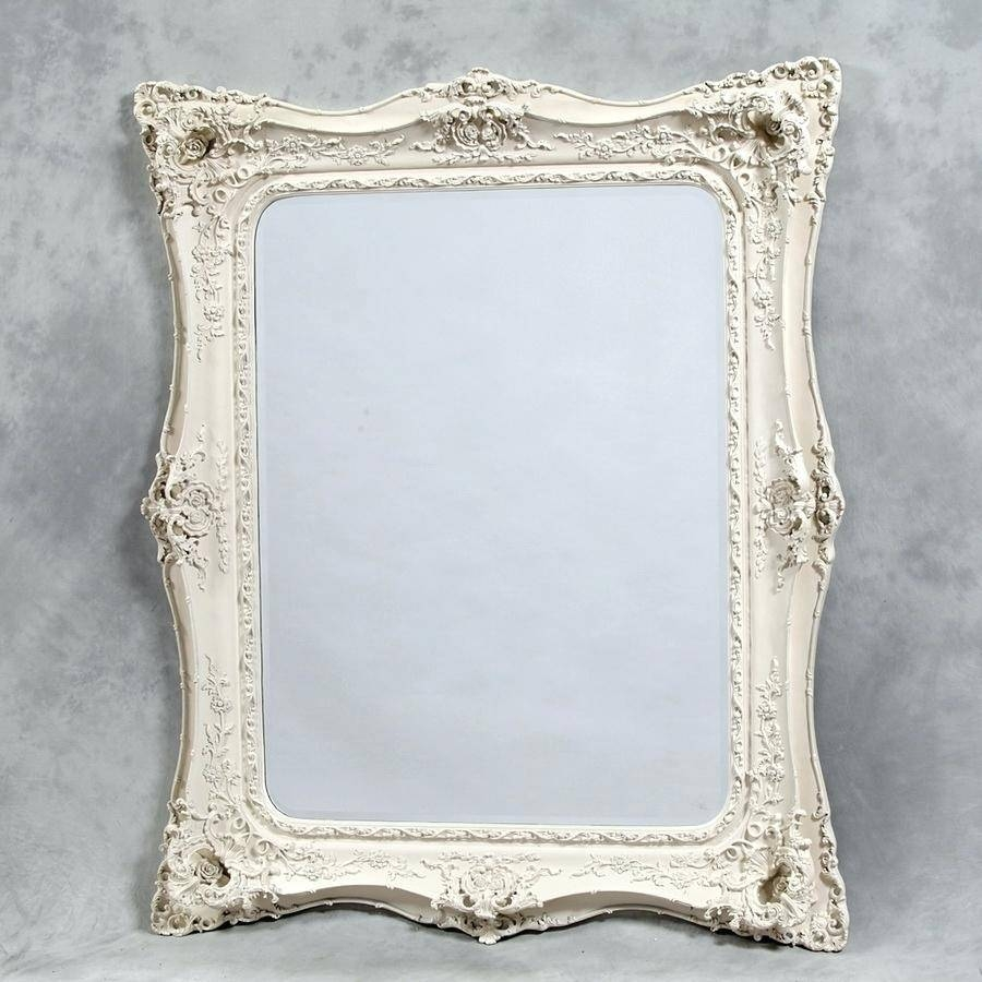 Shabby Chic Overmantle Mirrorlarge Oval Mirror Large Cream pertaining to Shabby Chic Cream Mirrors (Image 20 of 25)