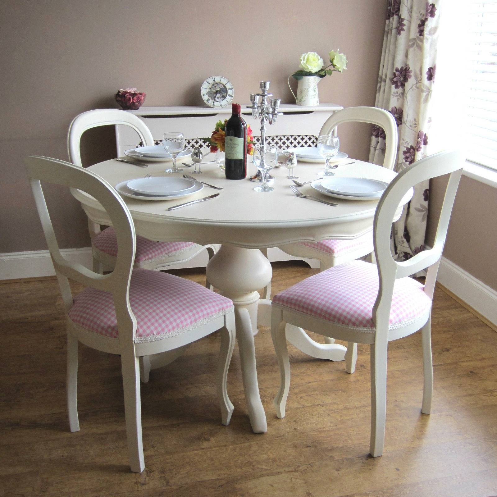 Shabby Chic Table And Chairs | Ebay regarding Shabby Chic Sofas Cheap (Image 15 of 30)