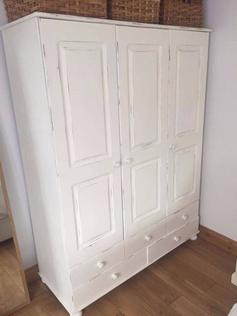 Shabby Chic Upcycled Wardrobe – Quick Sale Needed | In Banwell Throughout Shabby Chic Wardrobes For Sale (View 14 of 15)