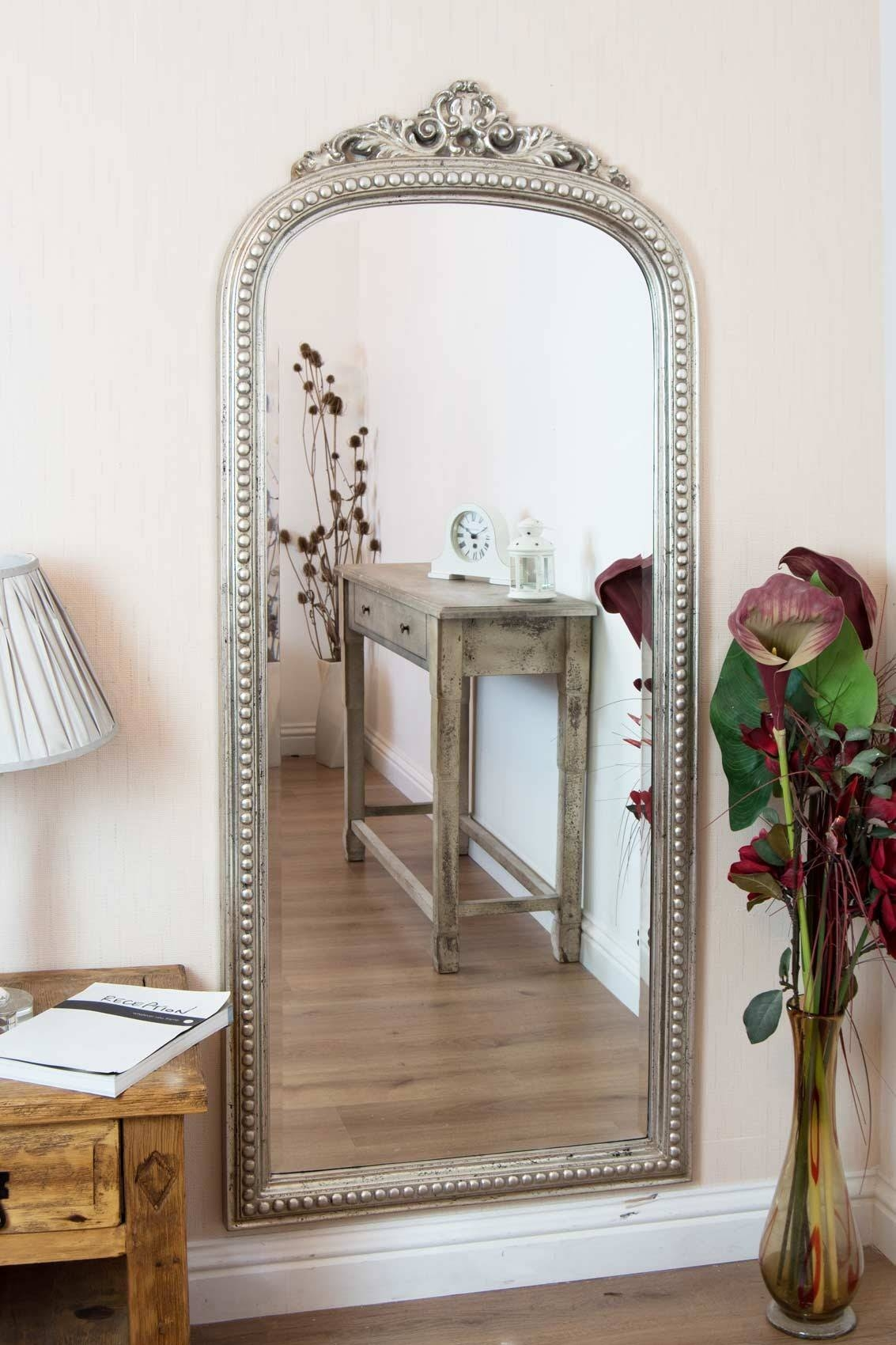 Shabby Chic Wall Mirror 130 Inspiring Style For Fabulous Large in Silver Ornate Wall Mirrors (Image 24 of 25)