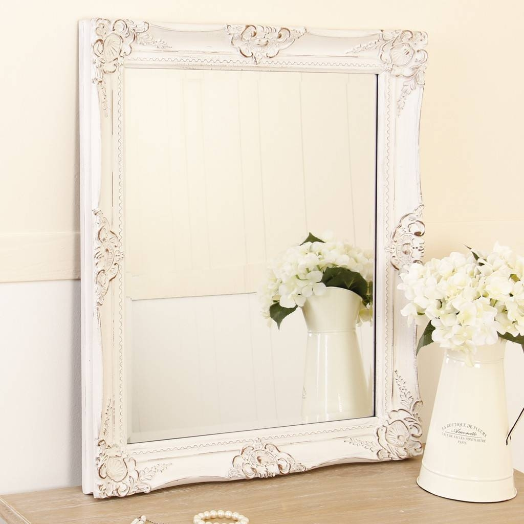 Shabby Chic Wall Mirror – Harpsounds.co with White Shabby Chic Wall Mirrors (Image 23 of 25)