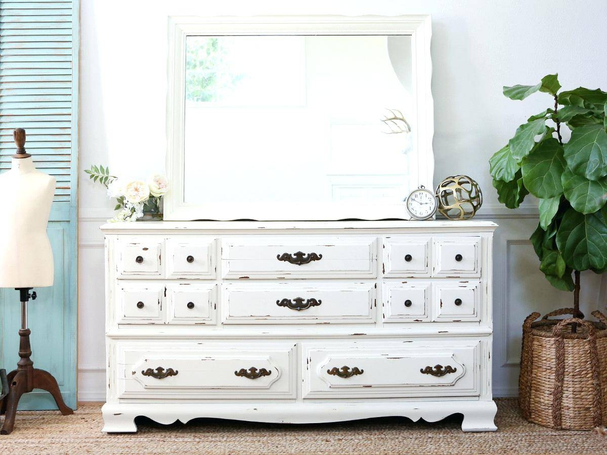 Shabby Chic White Mirror – Shopwiz inside Vintage Shabby Chic Mirrors (Image 23 of 25)