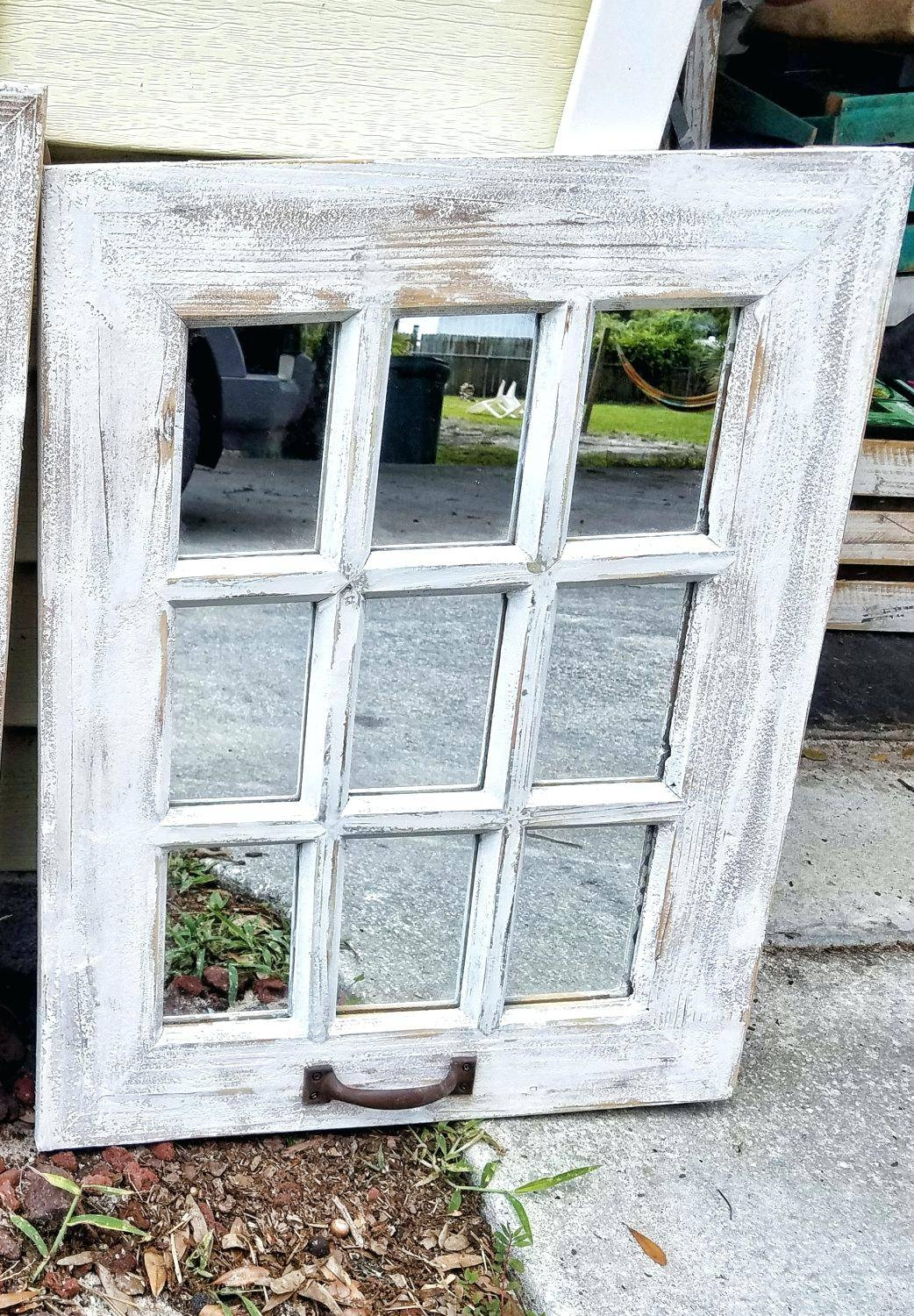 Shabby Chic Window Mirror – Shopwiz with regard to Shabby Chic Window Mirrors (Image 21 of 25)