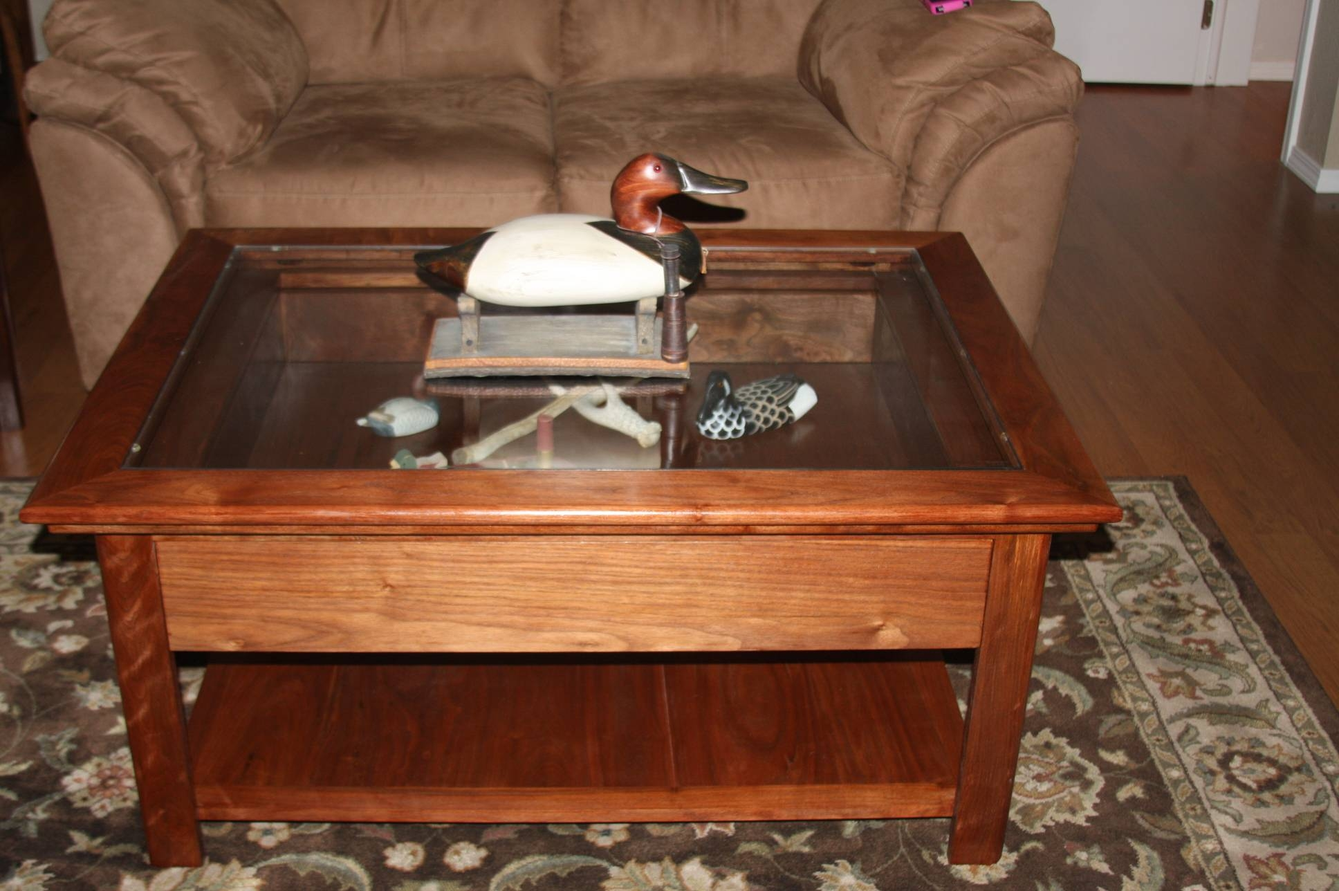 Shadow Box Coffee Table | Coffee Table Decoration throughout Glass Top Display Coffee Tables With Drawers (Image 28 of 30)