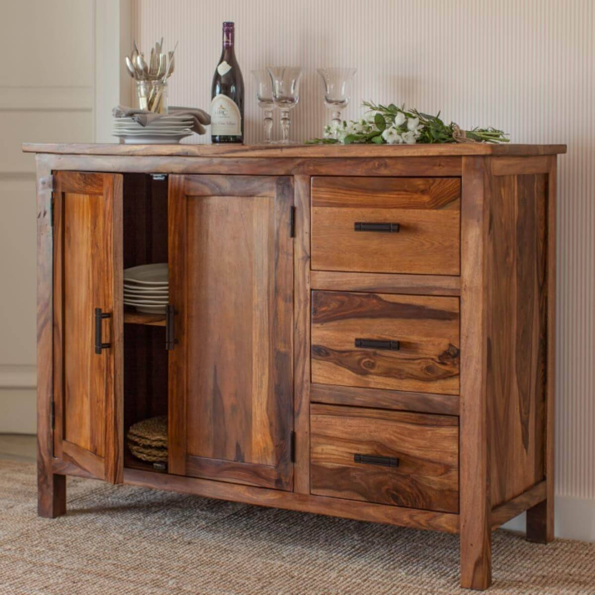 Sheesham Sideboard Units – The Furniture Co inside Sheesham Sideboards (Image 23 of 30)