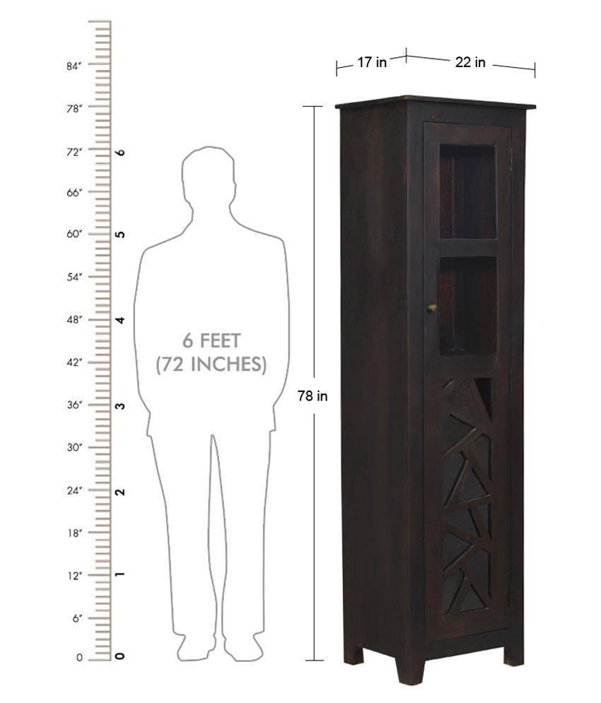 Shekhawati Solid Wood Single Door Wardrobe: Buy Online At Best Throughout Black Single Door Wardrobes (View 13 of 15)