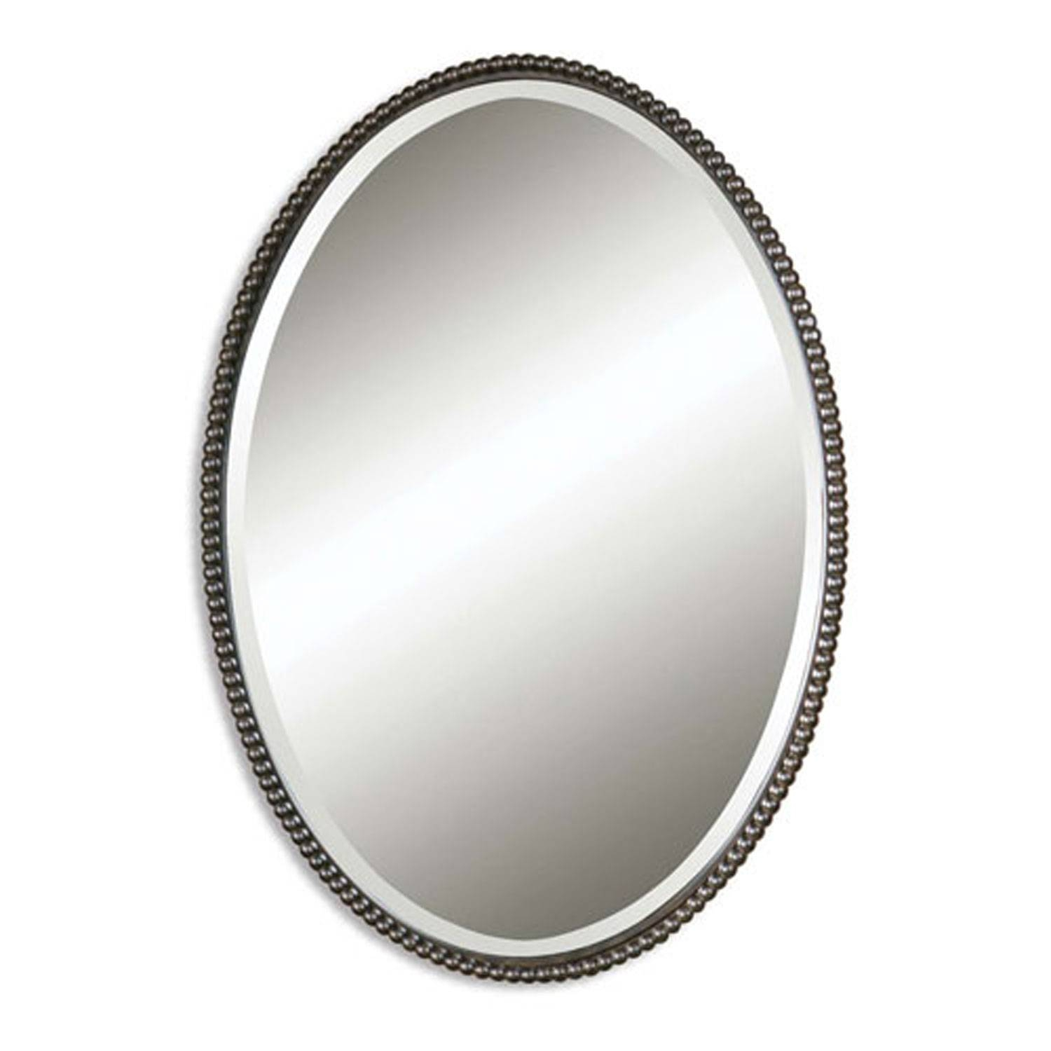 Sherise Oval Mirror Uttermost Wall Mirror Mirrors Home Decor Throughout Silver Oval Wall Mirrors (View 19 of 25)