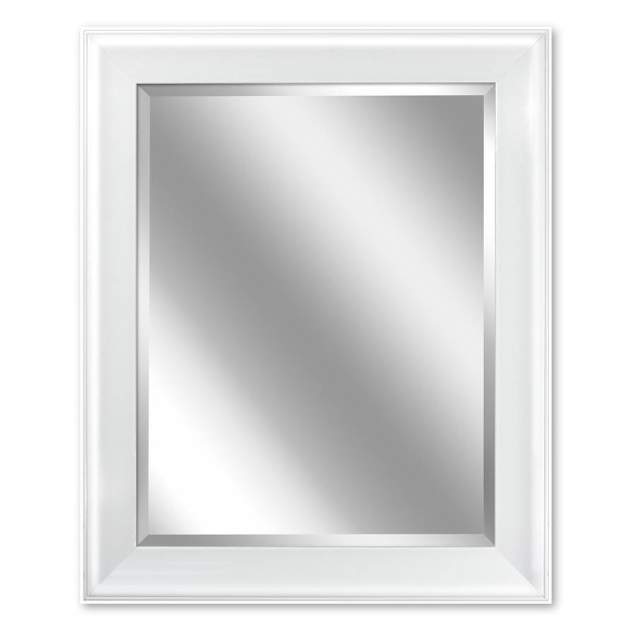Shop Allen + Roth 24-In X 30-In White Rectangular Framed Bathroom for Silver Rectangular Bathroom Mirrors (Image 10 of 25)