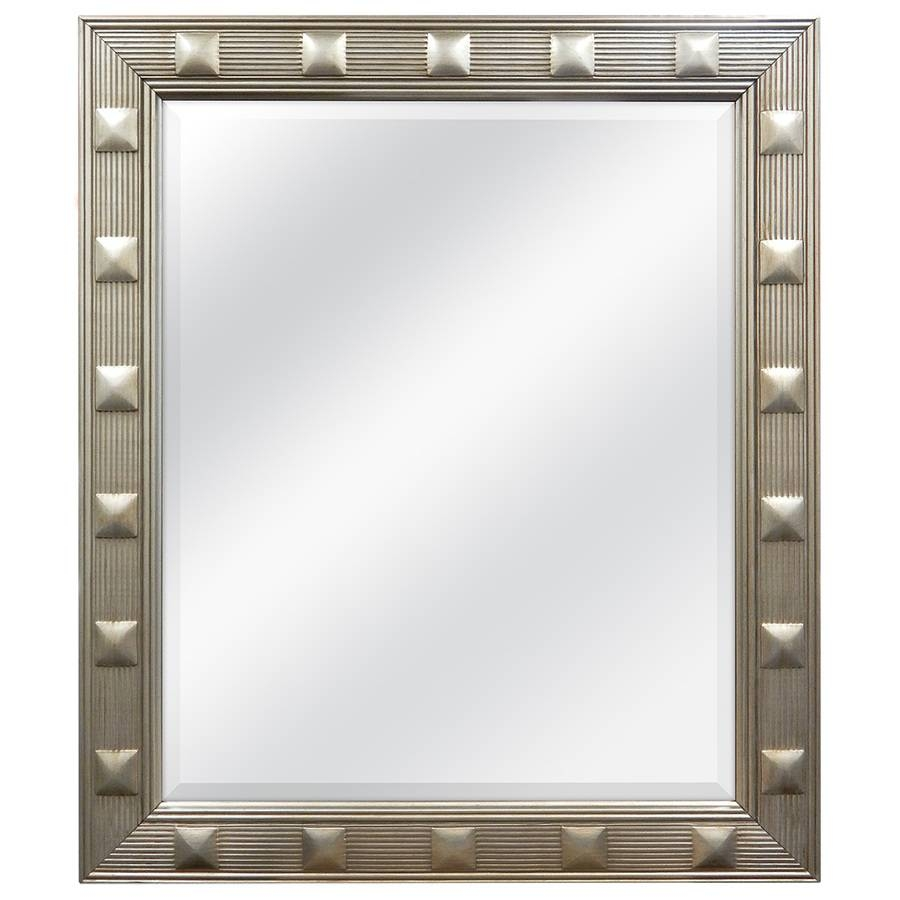 Shop Allen + Roth Champagne Beveled Wall Mirror At Lowes throughout Champagne Mirrors (Image 21 of 25)