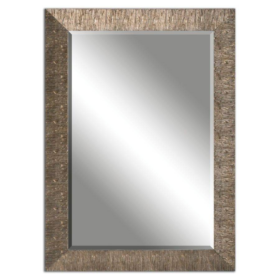 Shop Allen + Roth Golden Champagne Beveled Wall Mirror At Lowes intended for Champagne Wall Mirrors (Image 21 of 25)