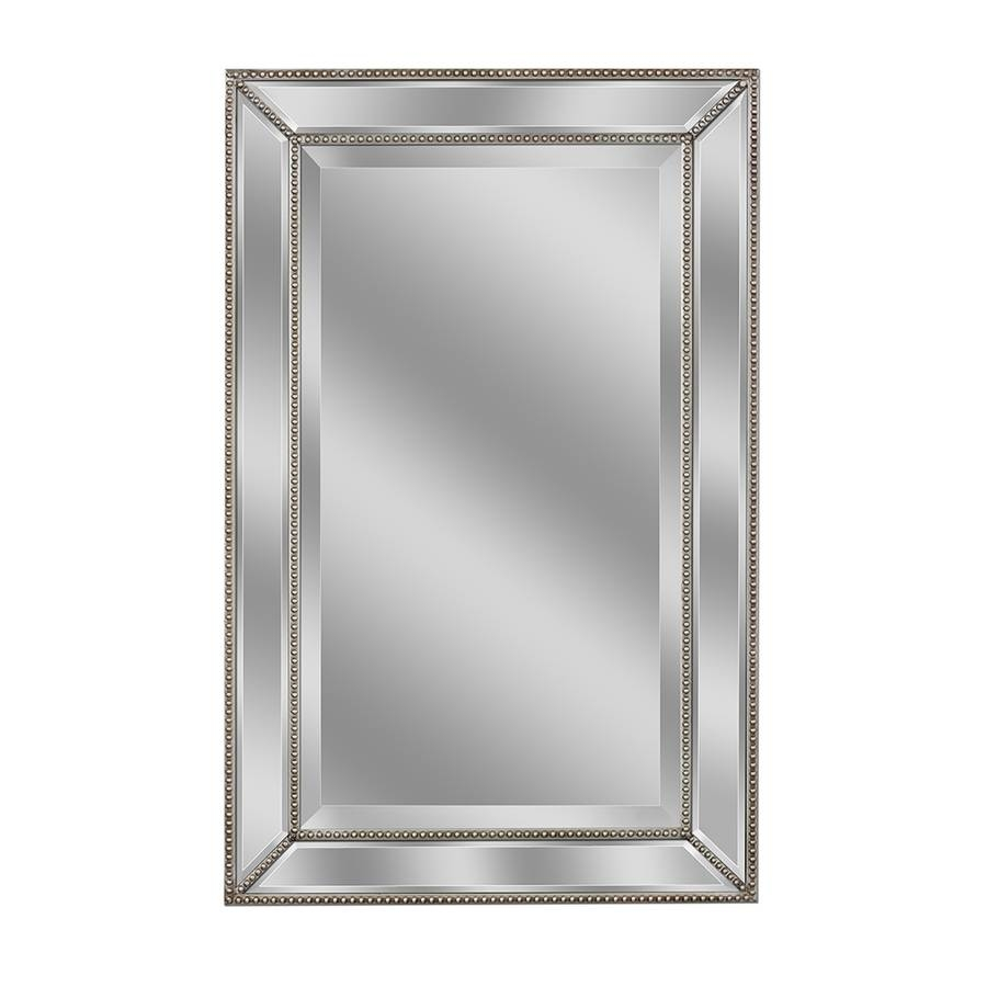 Shop Allen + Roth Silver Beveled Wall Mirror At Lowes throughout Champagne Mirrors (Image 22 of 25)