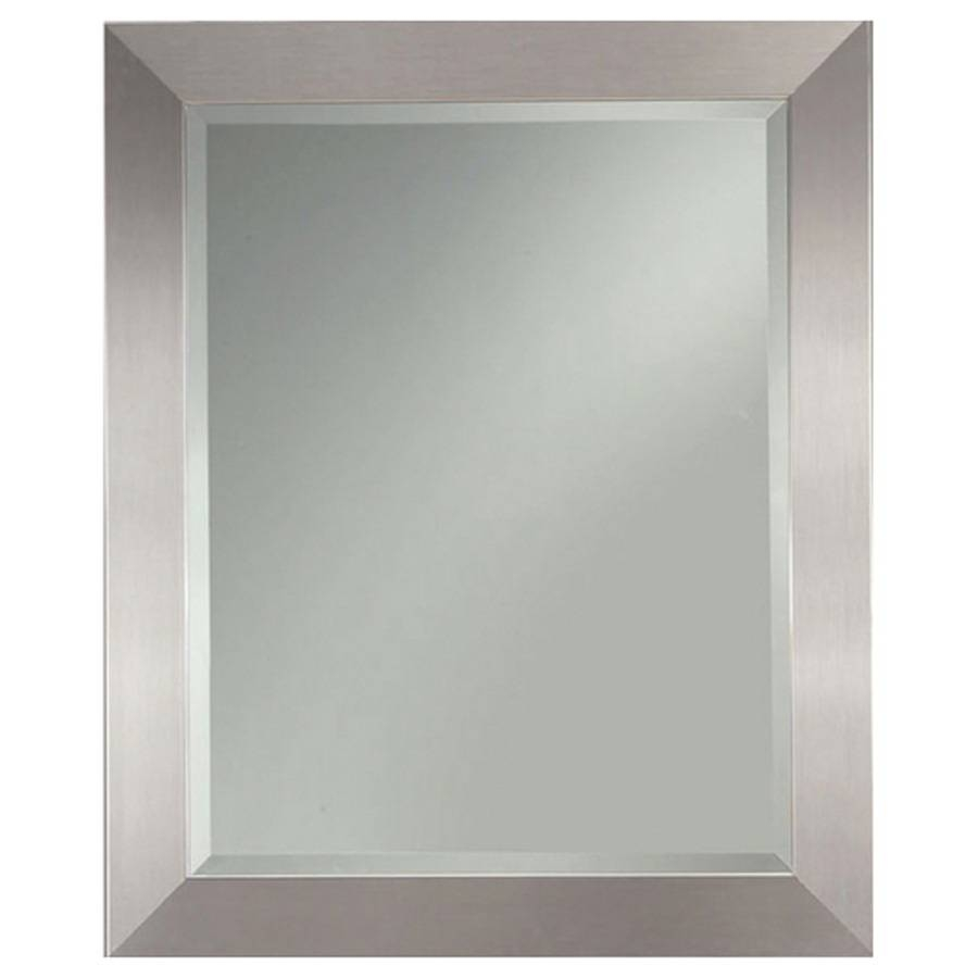 Shop Allen + Roth Silver Leaf Beveled Wall Mirror At Lowes with Large Pewter Mirrors (Image 19 of 25)