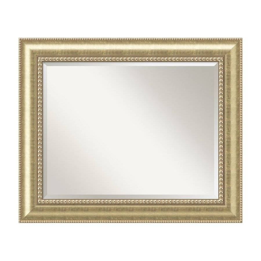 Shop Amanti Art Astoria Champagne Gold Beveled Wall Mirror At in Champagne Wall Mirrors (Image 22 of 25)