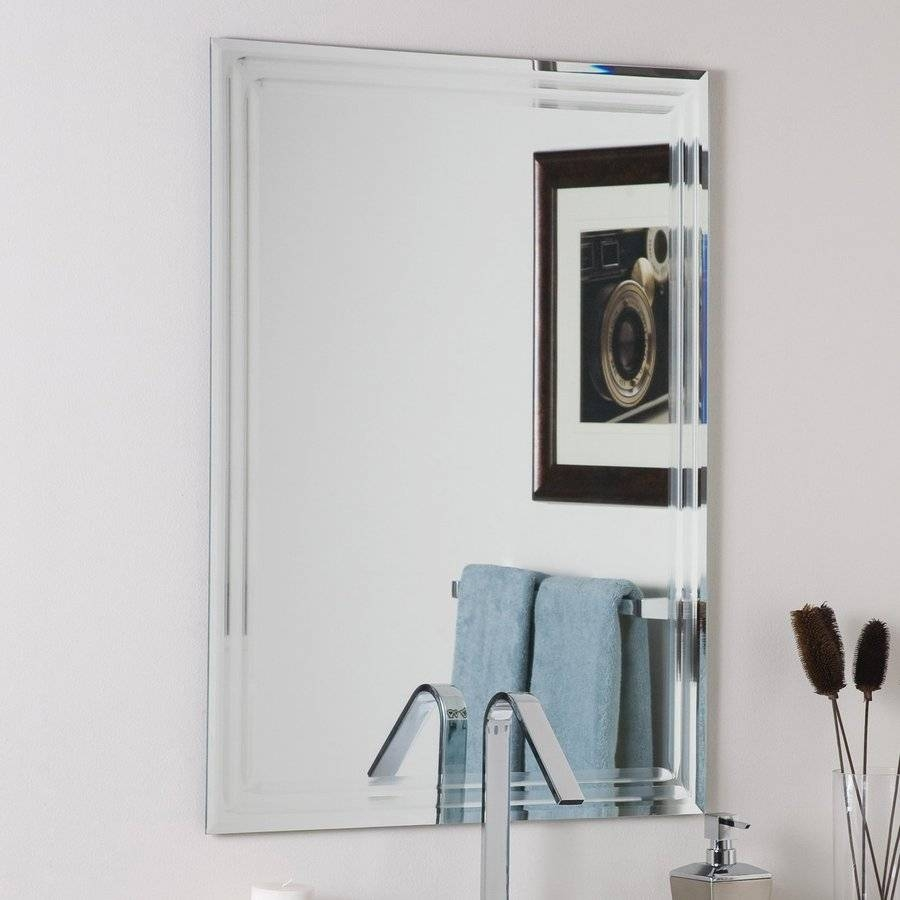Shop Bathroom Mirrors At Lowes Inside Antique Frameless Mirrors (View 10 of 25)