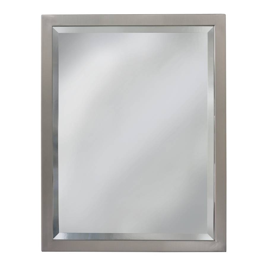 Shop Bathroom Mirrors At Lowes with Silver Rectangular Bathroom Mirrors (Image 11 of 25)