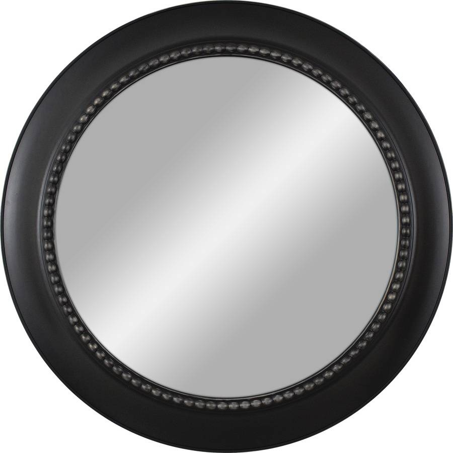 Shop Black Polished Round Wall Mirror At Lowes Inside Round Black Mirrors (Photo 13 of 25)