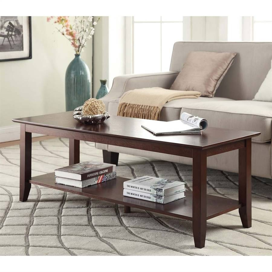 Shop Convenience Concepts American Heritage Pine Coffee Table At for Heritage Coffee Tables (Image 27 of 30)