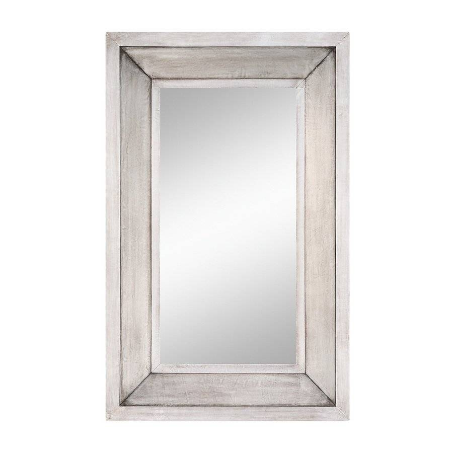 Shop Cooper Classics Garner Silver Beveled Wall Mirror At Lowes pertaining to Silver Rectangular Bathroom Mirrors (Image 12 of 25)
