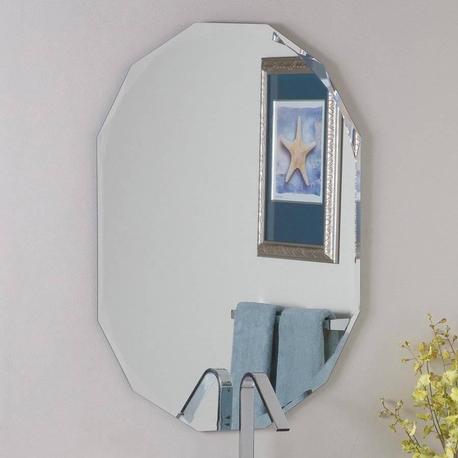 Shop Decor Wonderland Diamond 23.6-In X 31.5-In Oval Frameless inside Beveled Edge Oval Mirrors (Image 19 of 25)