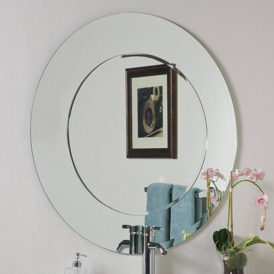 Shop Decor Wonderland Oriana 35-In X 35-In Round Frameless for Round Bevelled Mirrors (Image 22 of 25)