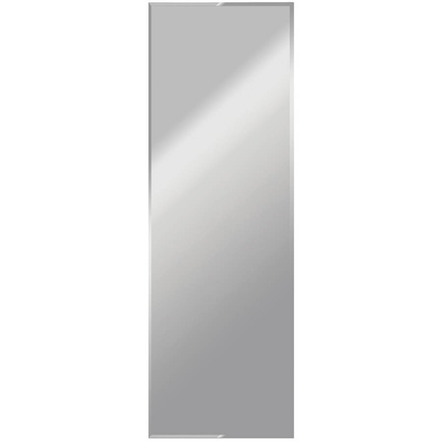 Shop Dreamwalls Silver Beveled Frameless Wall Mirror At Lowes regarding Full Length Frameless Wall Mirrors (Image 15 of 25)