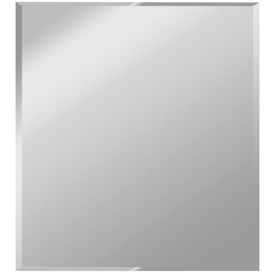 Shop Dreamwalls Silver Beveled Square Frameless Wall Mirror At regarding Full Length Frameless Mirrors (Image 19 of 25)