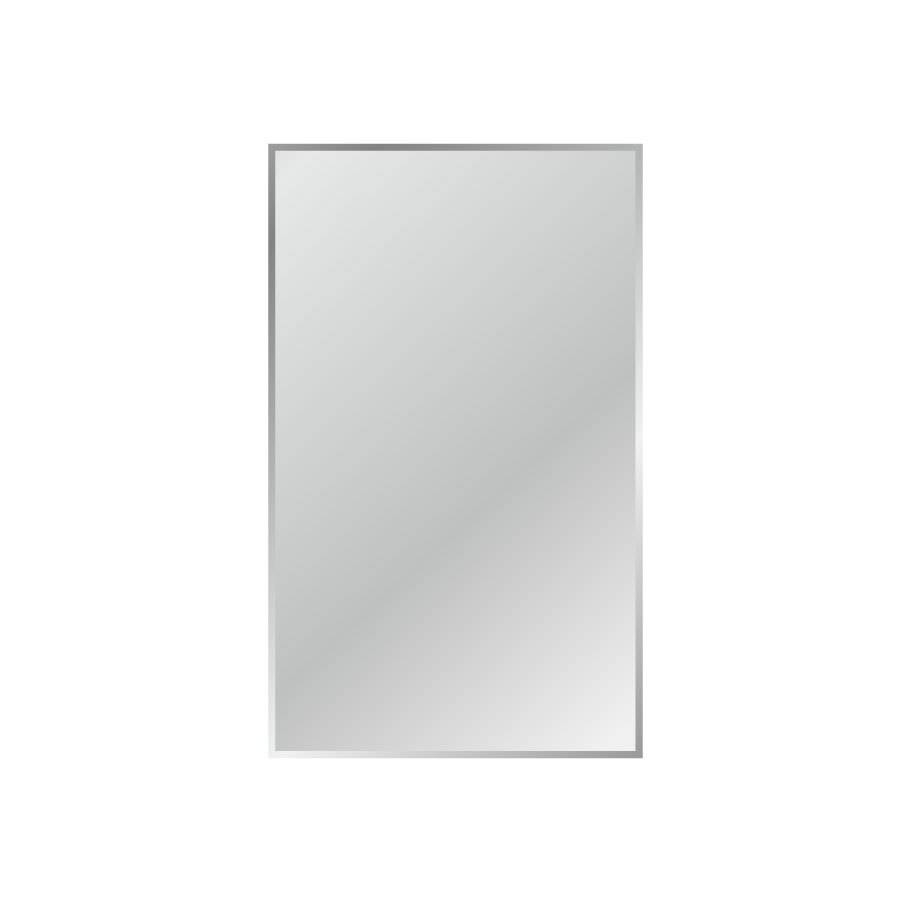 Shop Gardner Glass Products Silver Beveled Frameless Wall Mirror with Bevelled Mirrors Glass (Image 20 of 25)