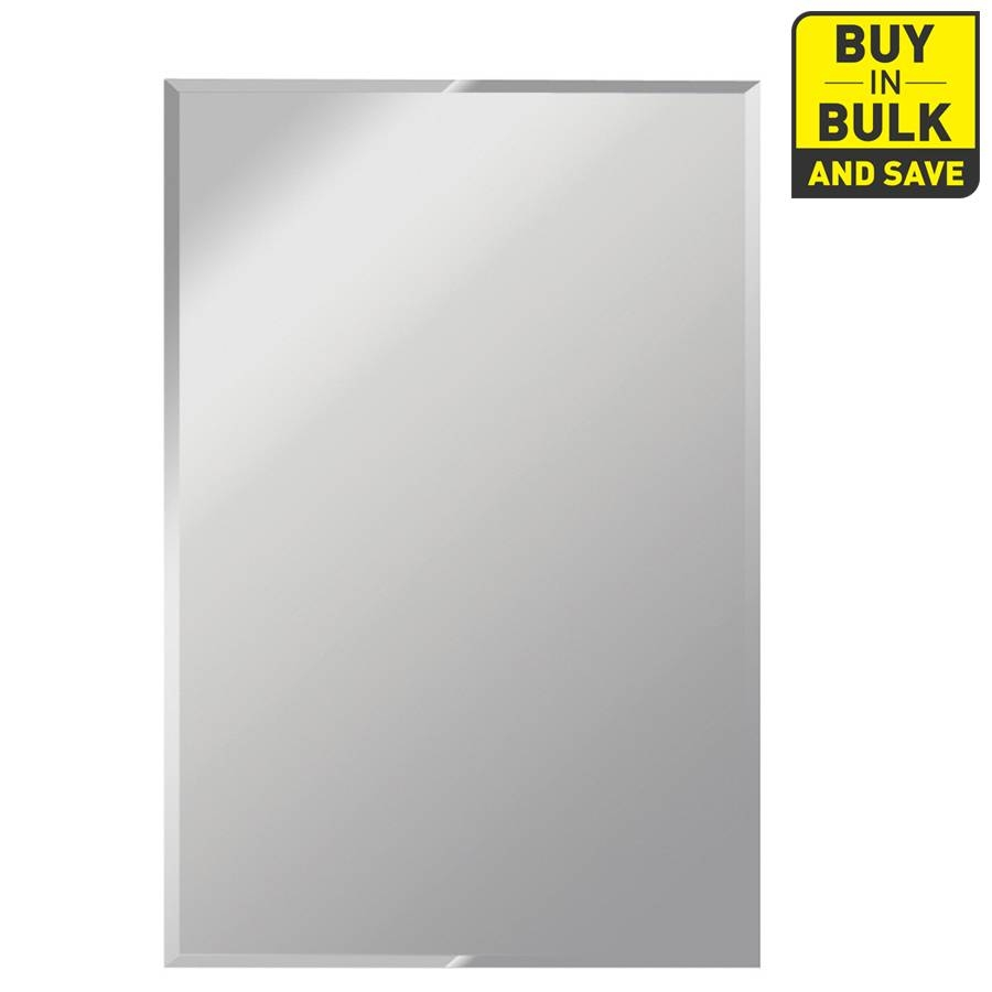 Shop Gardner Glass Products Silver Beveled Frameless Wall Mirror with regard to Full Length Frameless Wall Mirrors (Image 18 of 25)