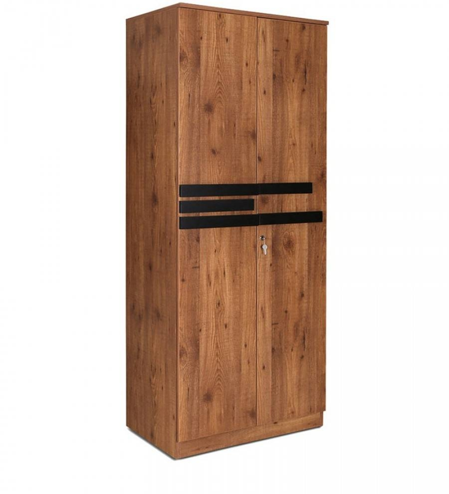 Shop Grafton Two Door Wardrobe In Natural Pine & Black Finish In Natural Pine Wardrobes (View 12 of 15)