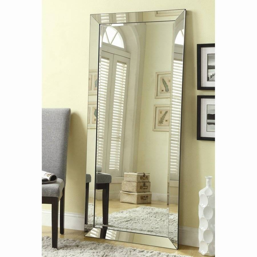 Shop Mirrors At Lowes regarding Chrome Floor Mirrors (Image 20 of 25)