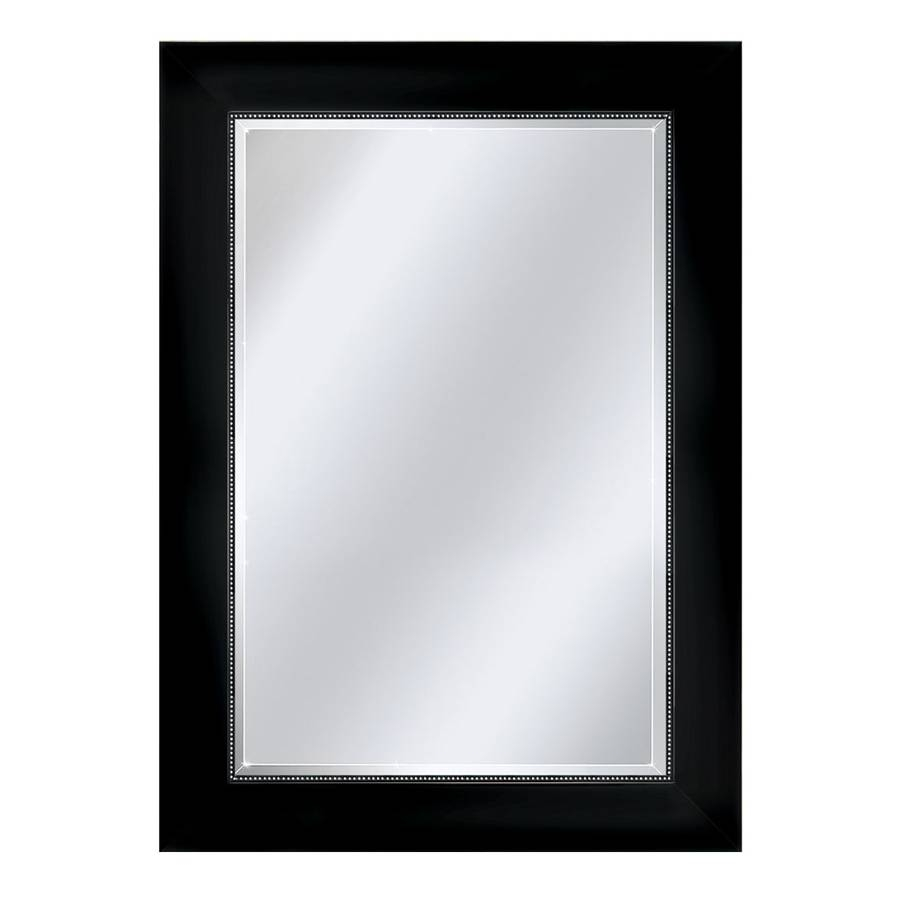 Shop Mirrors & Mirror Accessories At Lowes For Black Bevelled Mirrors (View 12 of 13)