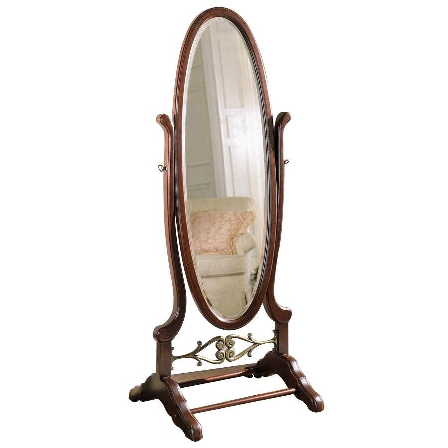 Shop Powell 25.25-In X 63-In Oval Freestanding Mirror At Lowes throughout Free Standing Oval Mirrors (Image 25 of 25)