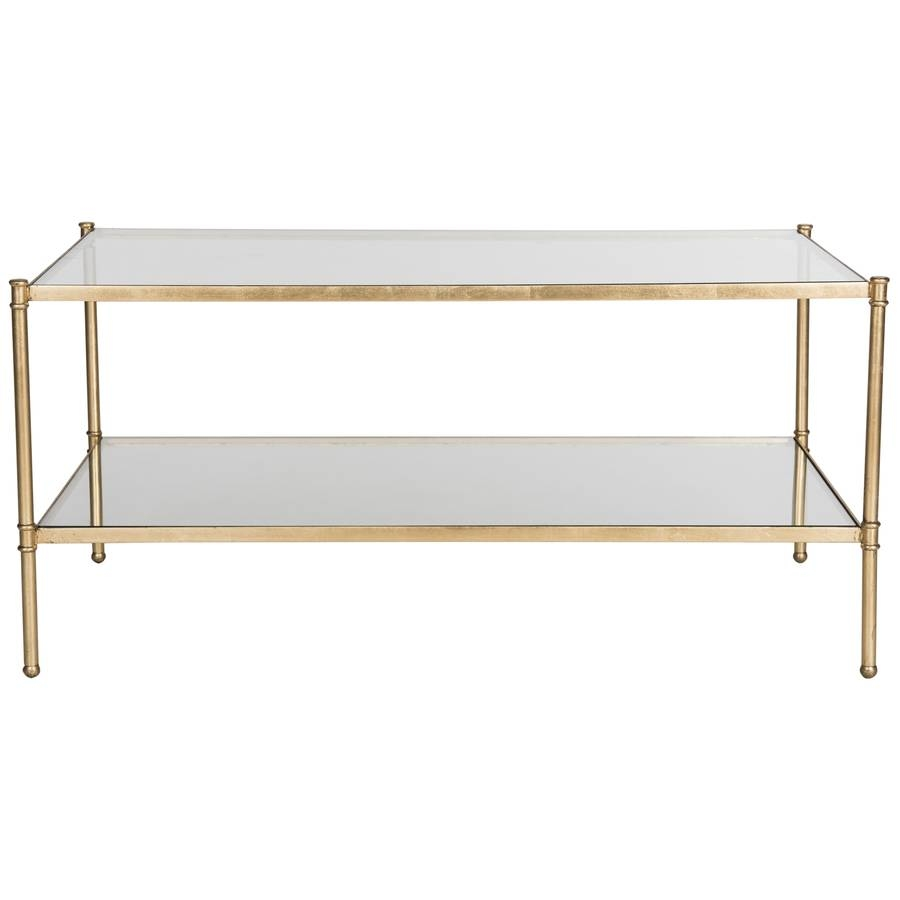 Shop Safavieh Aslan Glass Coffee Table At Lowes within Safavieh Coffee Tables (Image 25 of 30)