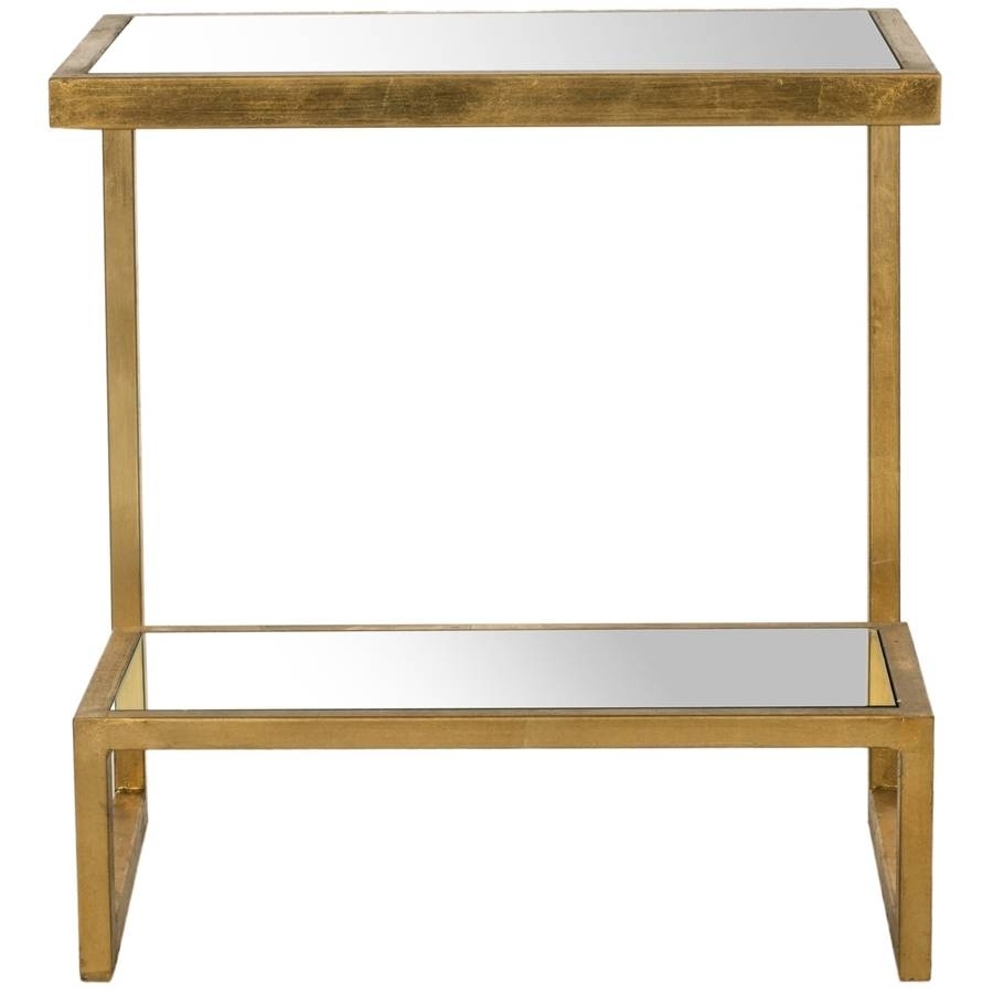 Shop Safavieh Kennedy Gold/mirror Top End Table At Lowes throughout Gold Table Mirrors (Image 21 of 25)