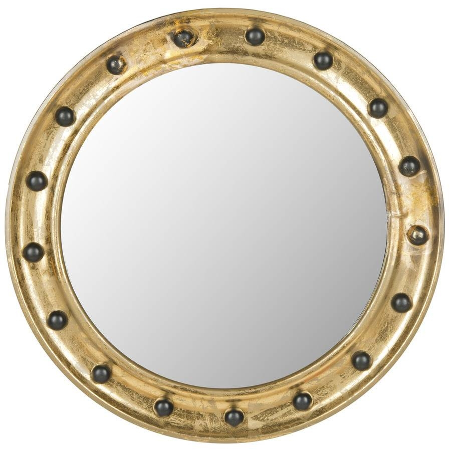 Shop Safavieh Mariner Porthole Antique Gold Polished Round Wall with regard to Porthole Wall Mirrors (Image 23 of 25)
