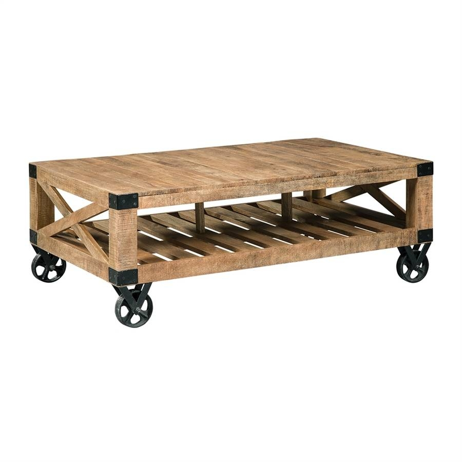 Shop Scott Living Natural Rough Mango Coffee Table At Lowes pertaining to Mango Coffee Tables (Image 30 of 30)
