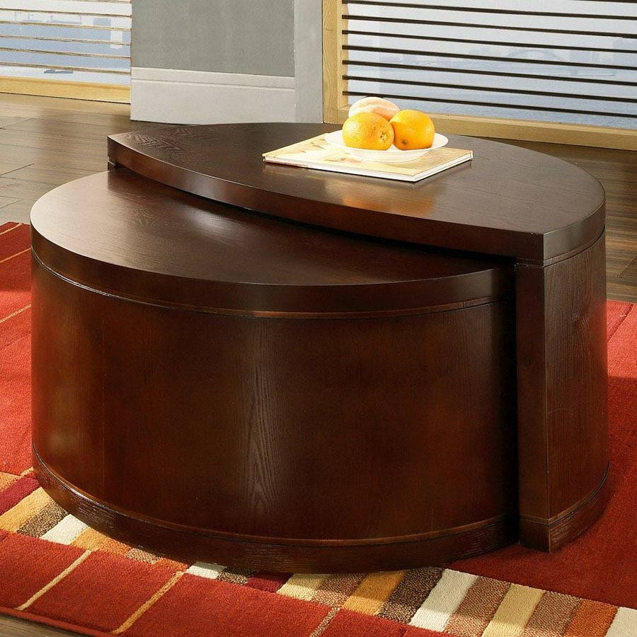 Shop Steve Silver Company Luna Cherry Half-Round Coffee Table At for Half Circle Coffee Tables (Image 27 of 30)