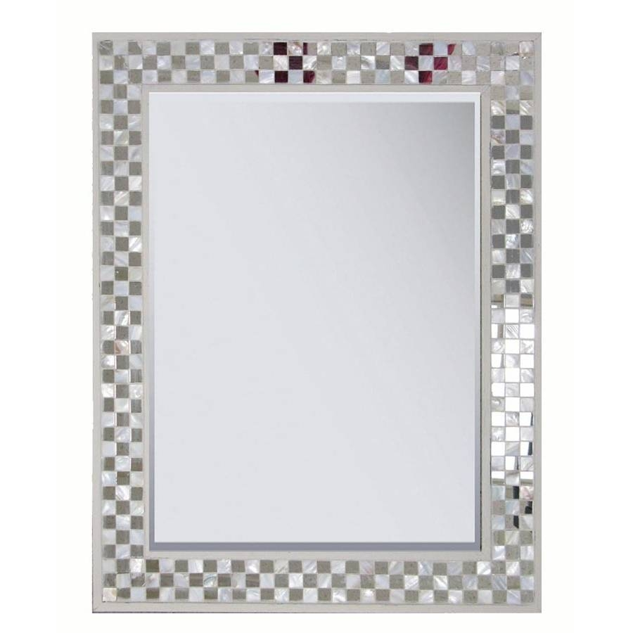 Shop Style Selections Cream Polished Wall Mirror At Lowes regarding Cream Wall Mirrors (Image 24 of 25)