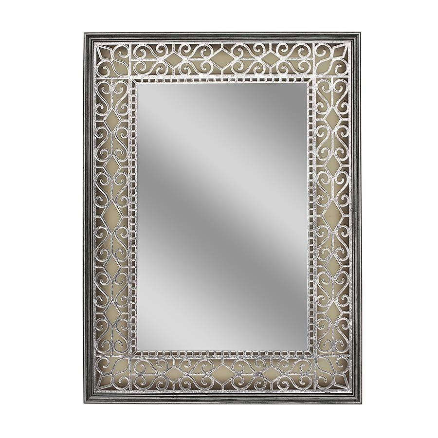 Shop Style Selections Gray/silver Polished Wall Mirror At Lowes With French Wall Mirrors (View 19 of 25)