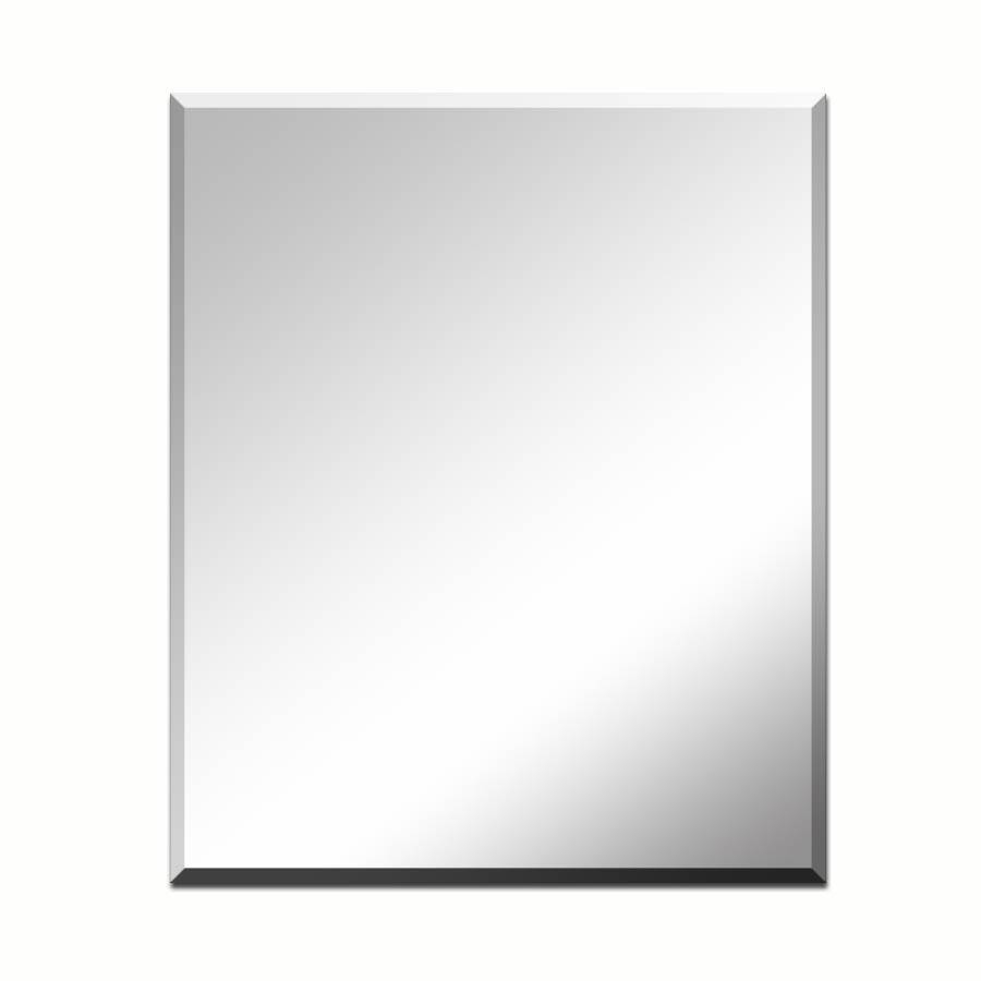 Shop Style Selections Silver Beveled Frameless Wall Mirror At intended for No Frame Wall Mirrors (Image 12 of 25)