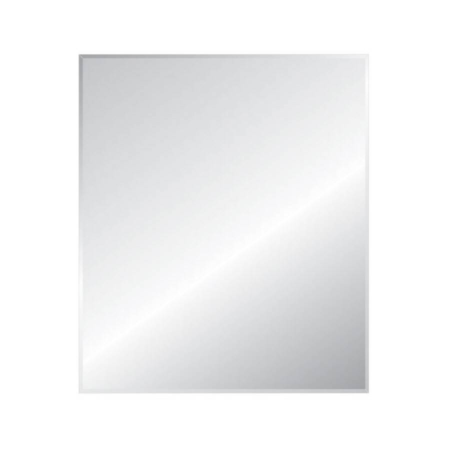Shop Style Selections Silver Beveled Frameless Wall Mirror At with regard to No Frame Wall Mirrors (Image 13 of 25)