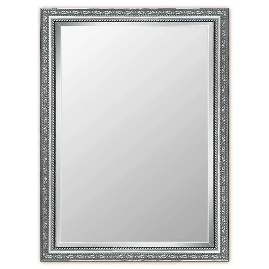 Shop Style Selections Silver Beveled Wall Mirror At Lowes Within Silver Mirrors (View 16 of 25)